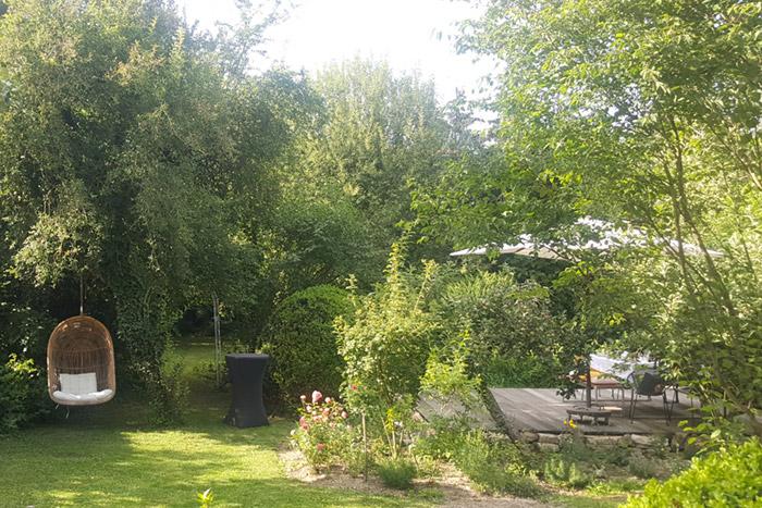 Garten in der Villa